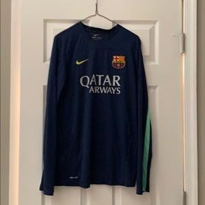 Barcelona Long Sleeve Nike Jersey